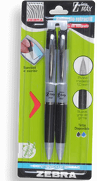 Bolígrafo Zebra Negro 2 U