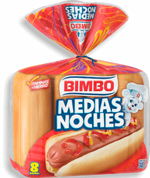 Pan Para Hot Dogs Bimbo Medias Noches 8 U
