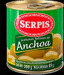 Aceitunas Serpis Rellenas de Anchoa 200 g