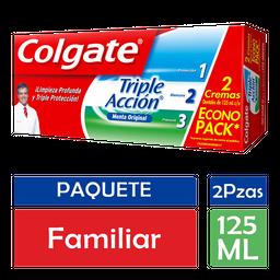 Pasta Dental Colgate Triple Acción Menta Original 125 mL x 2
