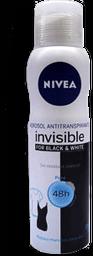 Antitranspirante Nivea Invisible For Black & White 150 mL