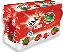 Yoghurt Bebible Yoplait Mini Con Fresa 100 g x 8