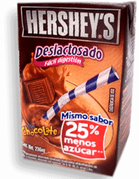 Leche Hershey's Sabor Chocolate Deslactosada 236 mL