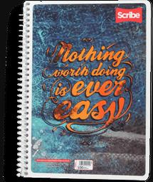 Cuaderno Scribe Francés Espiral 100 Hojas de Raya 1 U