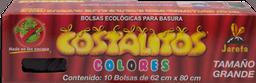 Bolsas Costalitos Para Basura Ecológicas de Colores Grande 10 U