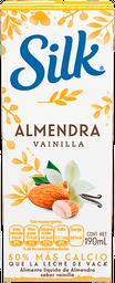 Alimento Líquido Silk Almond Almendra Vainilla sin Gluten 190 mL
