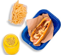 Chilango Cheese Dog + Papas + Bebida
