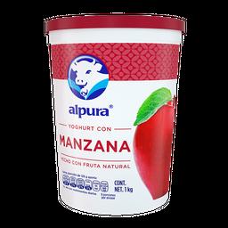 Yoghurt Alpura Con Manzana 1 Kg