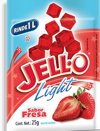 Polvo Para Gelatina Jello Sabor Fresa Light 25 g