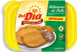 Del Día Milanesa de Pollo Empanizada Paquete