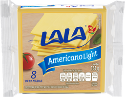 Queso Americano Lala Light 144 g
