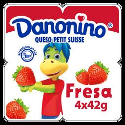 Queso Petit Suisse Danonino Con Fresa 4 X 42G
