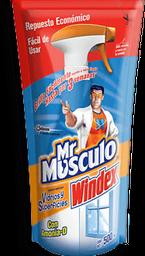 Limpiador Líquido Mr. Músculo Windex Vídrio y Superficies 500 mL