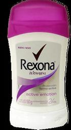Antitranspirante Rexona Women Active Emotion Barra 50 g