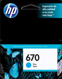 Cartucho HP 670 Cyan