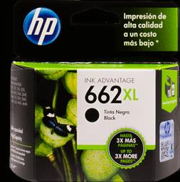 Tinta Hp Color Negro 662 en Cartucho Xl 1 U