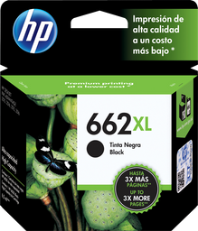 Tinta Hp Color Negro 662 en Cartucho Xl 1 U