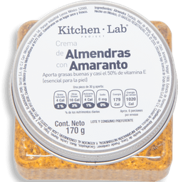 Crema de Almendras y Amaranto