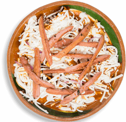 Chilaquiles con Salchicha