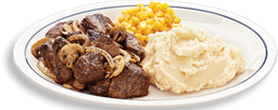 Carne Sirloin Steak Tips Dinner