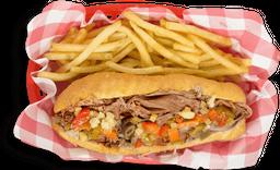 Italian Beef Sandwich Combo 1