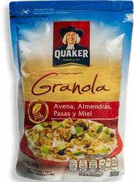 Granola Quaker Avena Almendras Pasas y Miel 360 g
