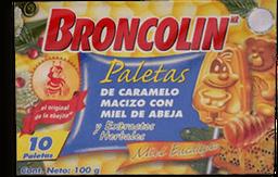 Paleta Broncolin Miel de Abeja y Ecualitpo 10 U
