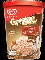 Helado Cremissimo Especial Nuez Almendras 1 L