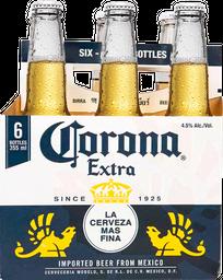 Cerveza Corona Extra Botella 355 mL x 6