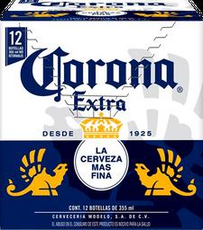 2x1 Cerveza Corona Extra Botella 355 mL x 12