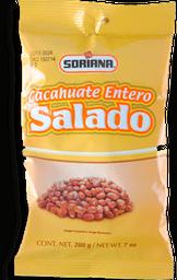 Cacahuate Soriana Entero Salado Bolsa 200g