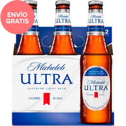 Cerveza Michelob Ultra Superior Light Beer Botella 355 mL x 6