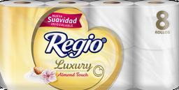 Papel Higiénico Regio Luxury Almond Touch 8 U