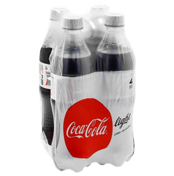 Refresco Coca Cola Light Pet 600 mL x 4