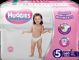 Pañales Huggies UltraConfort Etapa 5 Niña 60 U