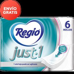 Papel Higiénico Regio Just 1 6 U