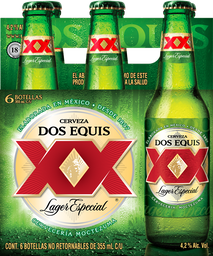Cerveza Dos Equis Lager Botella 355 mL x 6