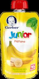 Alimento para Bebé Gerber Junior Papilla Plátano Pouch 120 g