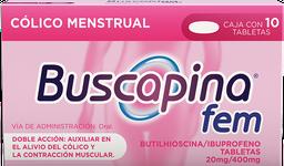 Bucapina Fem  10 Tabletas (20 mg/400 mg)