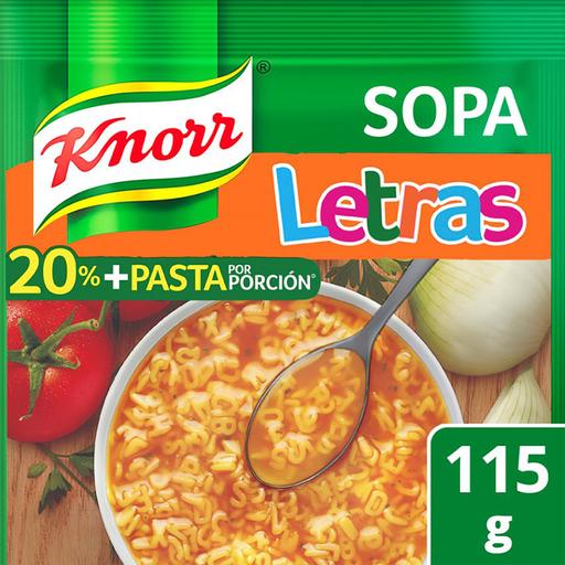 Pasta Para Sopa Knorr de Letras 115 g