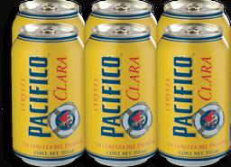 Cerveza Pacífico Clara Lata 355 mL x 6