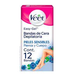 2 x Bandas Depilatorias Veet Corporales Easy Grip Cera Fría 12U