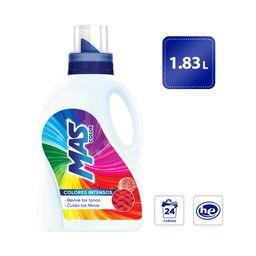 MAS Colores Intensos. Detergente Líquido. 1.83 L  (24 Cargas)