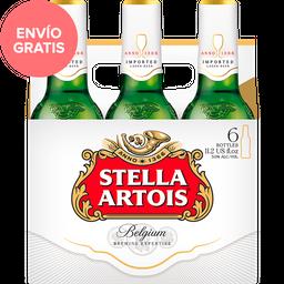 Cerveza Stella Artois Leuven Lager 330 mL x 6