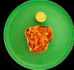 Tostada de cochinita pibil