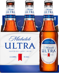 6 Pack Cerveza Michelob Ultra Superior Light Beer Botella 355 mL