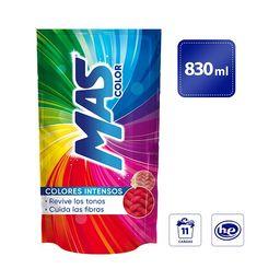 MAS Colores Intensos. Detergente Líquido. 830 ml (11 Cargas)