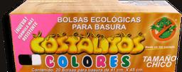 Bolsas Para Basura Costalitos Tamaño Chico de Colores 25 U