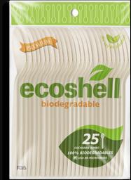 Cucharas Desechables Ecoshell Jumbo 25 U