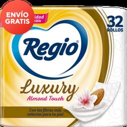 Papel Higiénico  Regio  Luxury Almond Touch 32 U